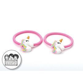 Snoepig Snoepig Haarelastiek Unicorns - Regenboog unicorn