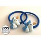 Snoepig Snoepig Haarelastiek Unicorns - Blauwe Unicorn