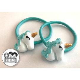 Snoepig Snoepig Haarelastiek Unicorns - Mint Unicorn