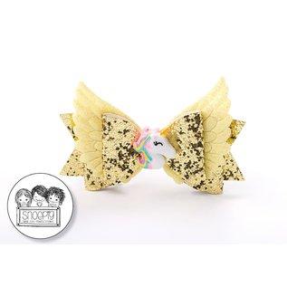 Snoepig Snoepig Unicorn Wings Strik - Goud