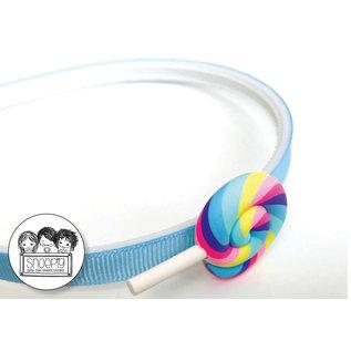 Snoepig Snoepig Haarbeugel Lolly Pastel - Licht Blauwe Beugel