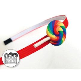 Snoepig Snoepig Haarbeugel - Lolly Regenboog