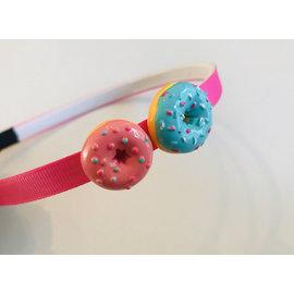 Snoepig Snoepig Haarbeugel Donuts Glazuur - Roze en Blauwe Donut
