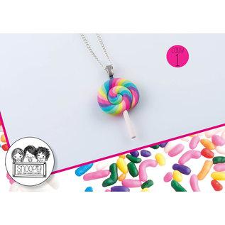 Snoepig Snoepig Ketting - Swirl Lolly (pastel)