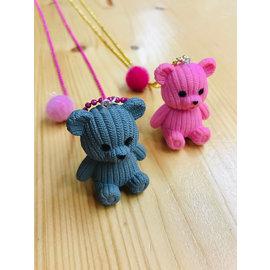 Snoepig Snoepig ketting met Teddybeer - Roze