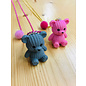 Snoepig Snoepig ketting - Teddybeer (Roze)