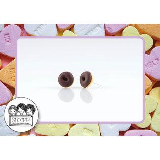 Snoepig Snoepig Oorbellen Donut - Bruin