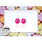 Snoepig Snoepig Oorbellen - M&M stekertjes (Roze)
