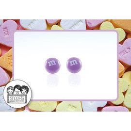 Snoepig Snoepig Oorbellen - M&M stekertjes (paars)