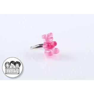 Snoepig Snoepig Ring Gummibeertje - Roze