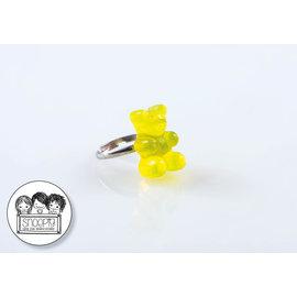 Snoepig Snoepig Ring Gummibeertje - Geel
