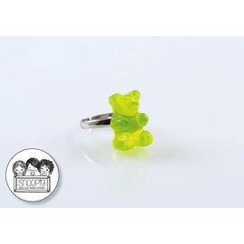 Snoepig Snoepig Ring Gummibeertje - Groen