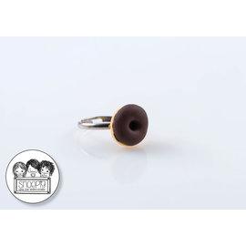 Snoepig Snoepig Ring - Donut (Bruin)