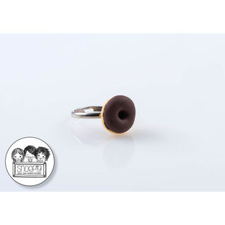 Snoepig Snoepig Ring Donutje - Bruin