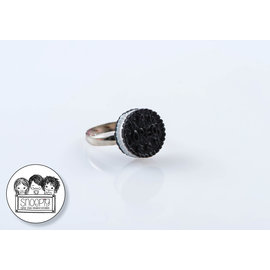 Snoepig Snoepig Ring Zwart Koekje
