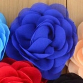 Snoepig Snoepig HaarKnipje Chiffon Bloemen - 1 Royal Blauw