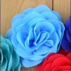 Snoepig Snoepig HaarKnipje Chiffon Bloemen - 2 Licht Blauw