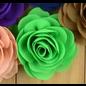 Snoepig Snoepig HaarKnipje Chiffon Bloemen - 8 Groen