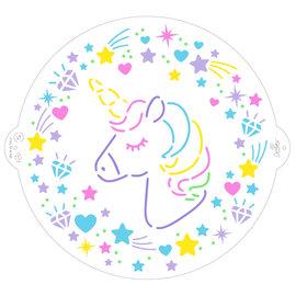 Decora Decora Stencil Unicorn ø25 cm