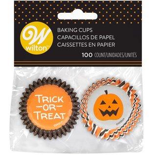 Wilton Wilton Mini Baking Cups Halloween Stripe & Dots pk/100