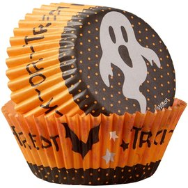 Wilton Wilton Baking Cups Trick or Treat Ghost pk/75