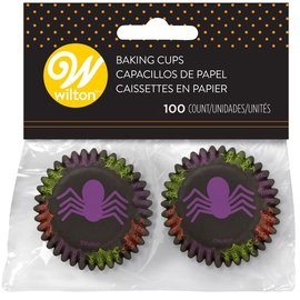 Wilton Wilton Mini Baking Cups Spider pk/100