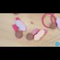 Snoepig Snoepig Haarknipjes Sinterklaas - Roze met Perzik Sint