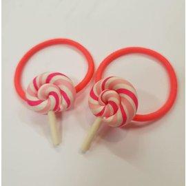 Snoepig Snoepig Haarelastiek - Swirl Lolly (Roze)