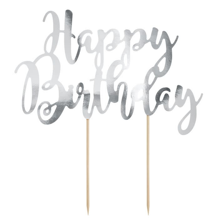 Swell Cake Topper Happy Birthday Zilver Sweetycakeshop Personalised Birthday Cards Cominlily Jamesorg