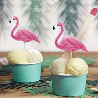PartyDeco Toppers Flamingo Set/6