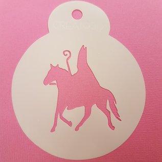 Stencil Sint op paard