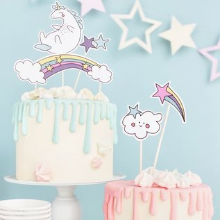 PartyDeco Cake Toppers Unicorn Set/5