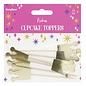 PartyDeco Cupcake Toppers Prinsessenkroon Set/6