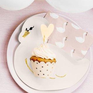 PartyDeco Cupcake Wrappers Perzikkleurig pk/6