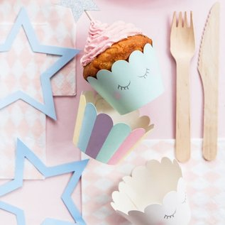 PartyDeco Cupcake Wrappers Unicorn Set/6