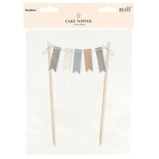 PartyDeco Cake Topper Bunting Garland