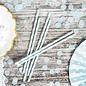 PartyDeco Papieren Rietjes Licht Blauw pk/10