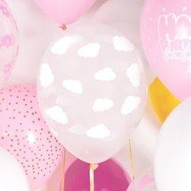 PartyDeco Ballonnen Wolken Wit pk/6