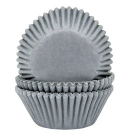 House of Marie HOM Baking Cups Grijs pk/24
