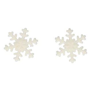 FunCakes FunCakes Fondant Decoratie Sneeuwvlokken Wit Set/6