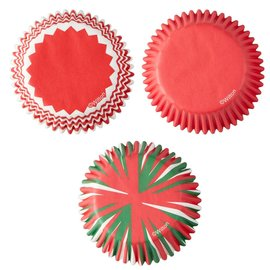 Wilton Wilton Baking Cups Holiday Swirl pk/75