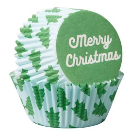Wilton Wilton Baking Cups Merry Christmas pk/75