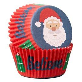Wilton Wilton Baking Cups Santa Claus pk/75