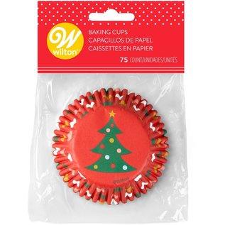 Wilton Wilton Baking Cups Tree & Ornaments pk/75