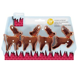 Wilton Wilton Cookie Cutter Reindeer Set/4
