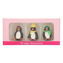 FunCakes Funcakes Suikerdecoratie 3d Pinguïn Set/3