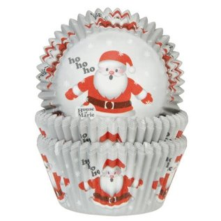 House of Marie HOM Baking Cups Kerstman pk/24
