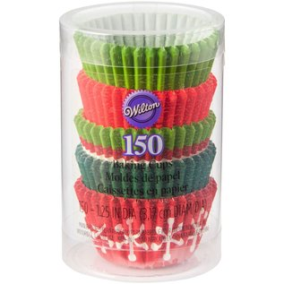 Wilton Wilton Mini Baking Cups Holiday pk/150