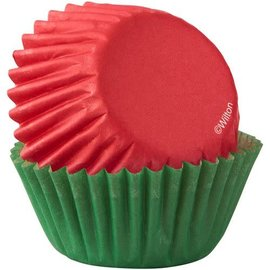 Wilton Wilton Mini Baking Cups Red & Green pk/100