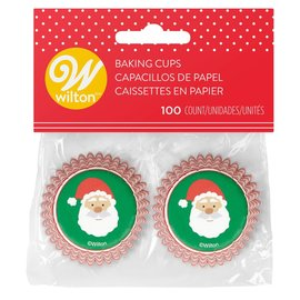 Wilton Wilton Mini Baking Cups Santa Claus pk/100